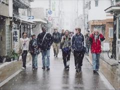 平野の町を歩く