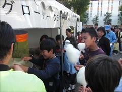 下水処理場イベントのブース